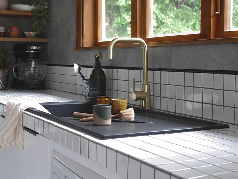 Newly renovated kitchen using cement look tiles - News | Midas