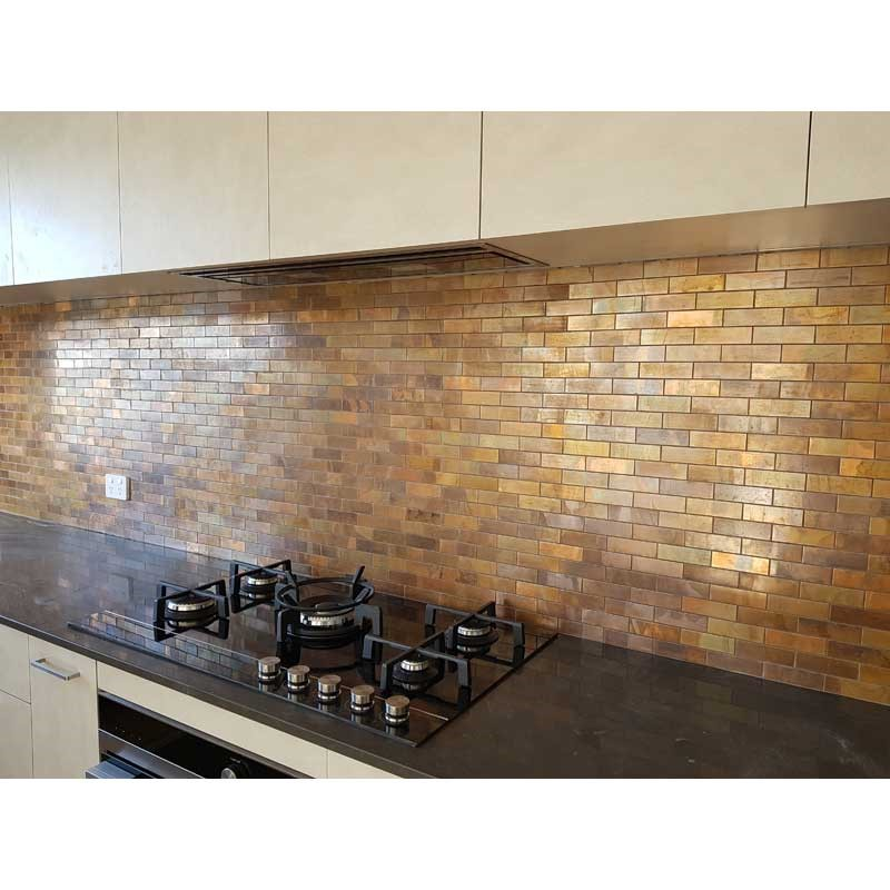 PYRAMIDE BRONZE HEX MOS 57MM Floor And Wall Tiles