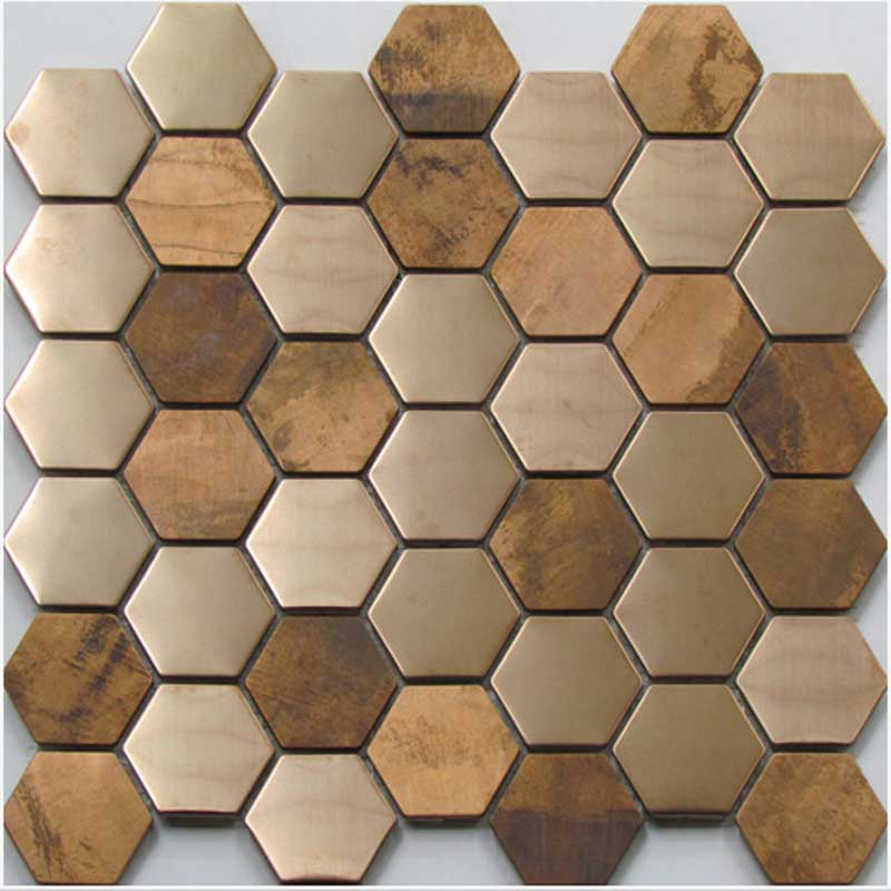 COPPER HEX MOS 48MM Floor and Wall Tiles   TileSpace - Tiles